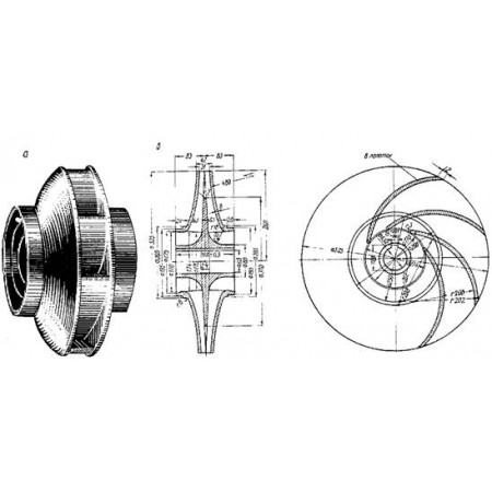Рабочее колесо насоса СМ 125-80-315, запчасти насоса СМ 125-80-315